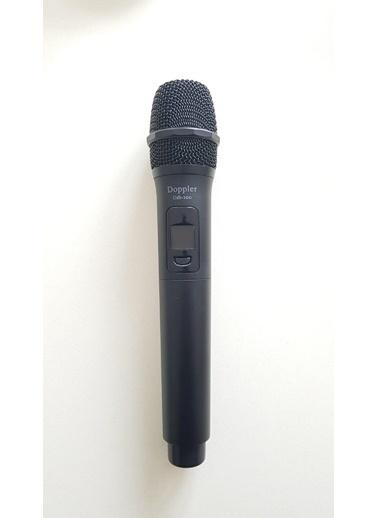 Doppler USB-100 Usb ile Çalışan Telsiz Kablosuz Mikrofon Siyah Siyah